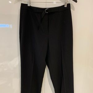 Lauren Black Flat Front Dress Pant